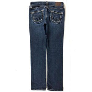 BKE Buckle Addison Boot Cut Jeans  Blue Wash Thick
